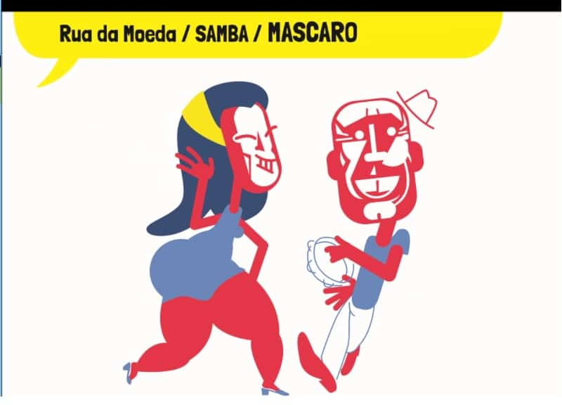Rua da Moeda Samba Mascaro - Decoração de Carnaval leva o cartum às ruas do Recife