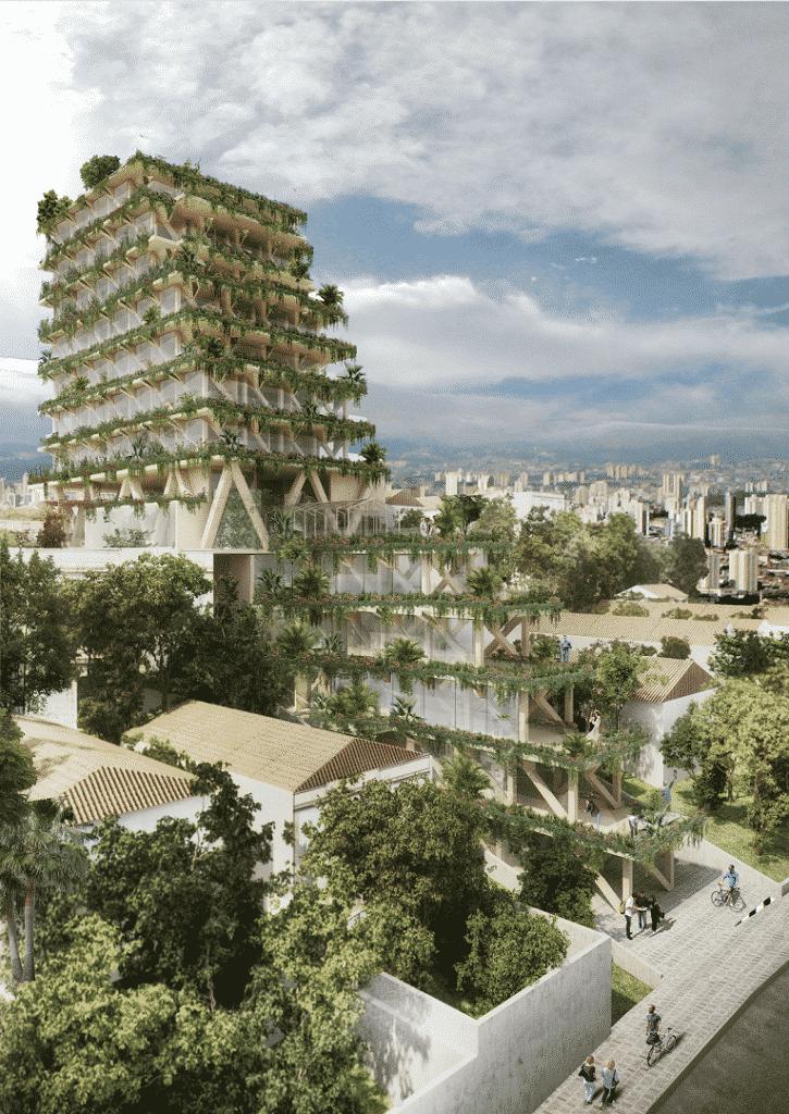 Triptyque Architecture apresenta projeto na 16º Bienal de Arquitetura de Veneza okok 725x1024 - Primeiro edifício de madeira será apresentado na 16º Bienal de Arquitetura de Veneza
