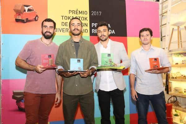 daniel  lucas  renan e marcelo  ganhadores do premio tokstok - Prêmio Tok&Stok de Design Universitário já tem vencedores