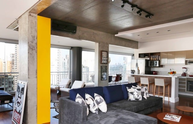 apartamento viviane gobbato11 - Apartamento em SP traz mistura jovem e urbana