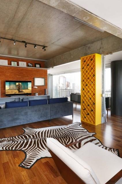 apartamento viviane gobbato2 - Apartamento em SP traz mistura jovem e urbana