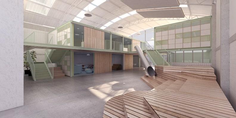 galpão casa fundamental5 - Escola ocupa galpão industrial em BH