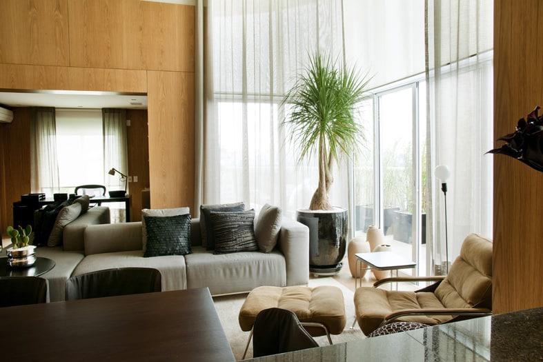 apartamento estar - Atmosfera masculina na decoração do apartamento