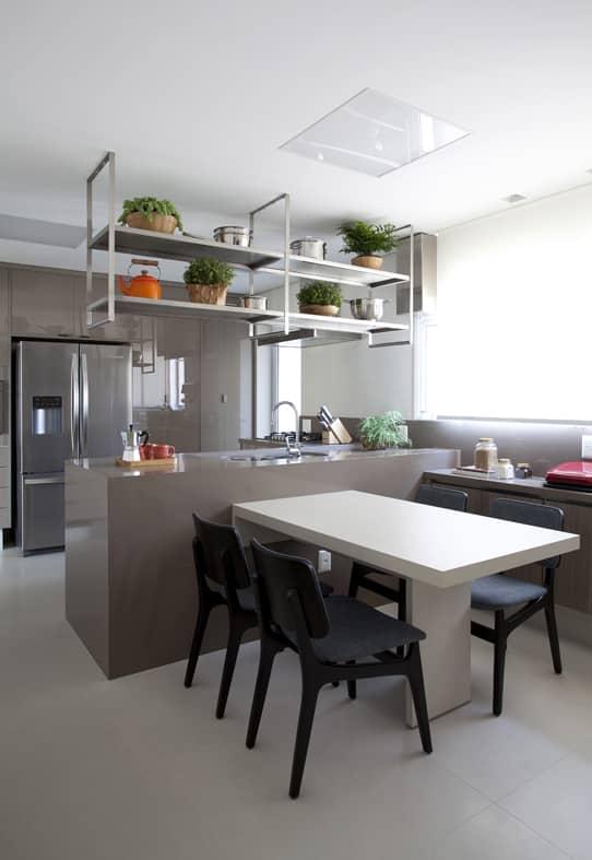 apartamento integração - Atmosfera masculina na decoração do apartamento