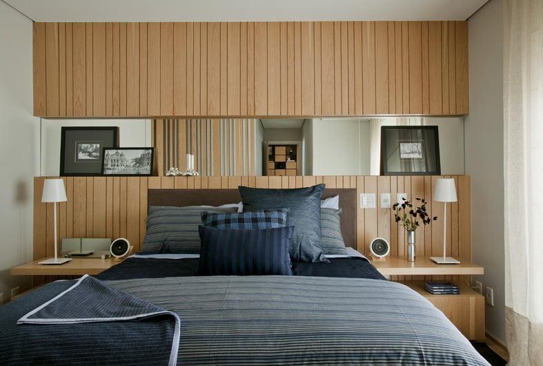 apartamento quarto - Atmosfera masculina na decoração do apartamento