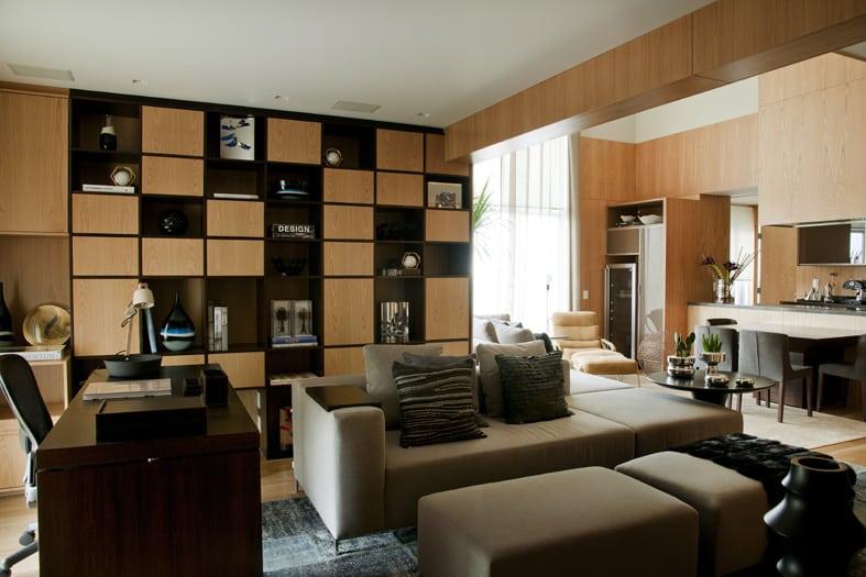 apartamento - Atmosfera masculina na decoração do apartamento