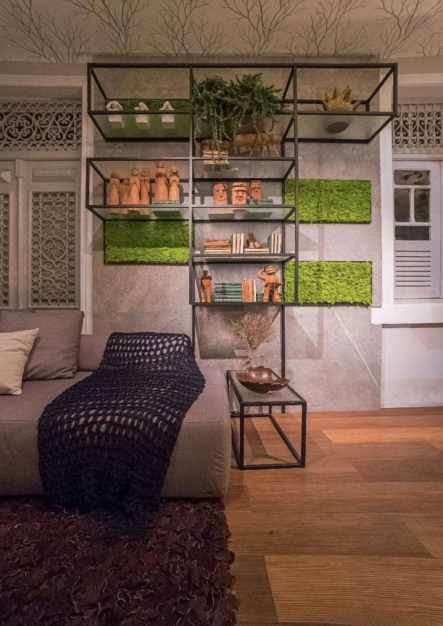 estante varanda do jantar igor - Artesanato em destaque na CASACOR PE