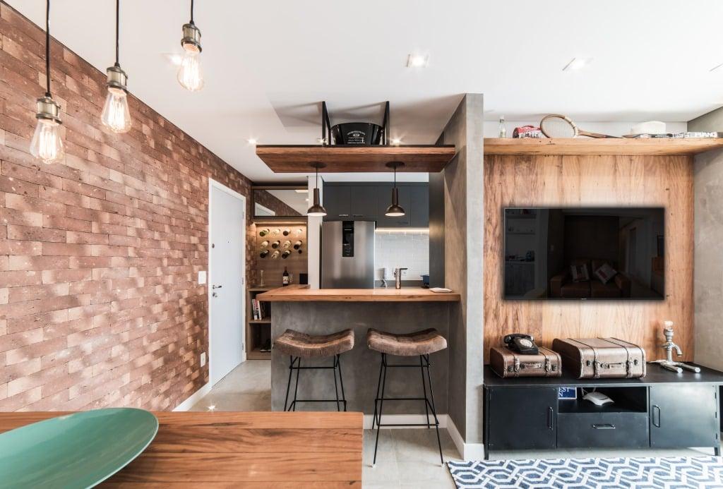 Apto Morumbi Pietro Terlizzi 11 1 - Apartamento pequeno traz estilo rústico  sem abrir mão do conforto