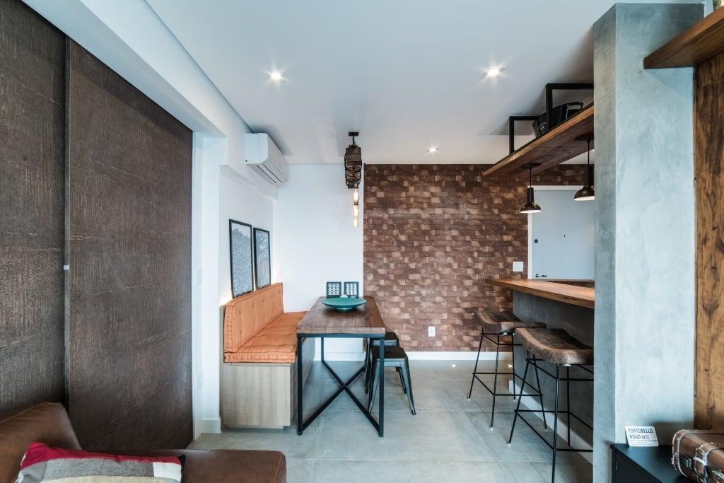 Apto Morumbi Pietro Terlizzi 8 - Apartamento pequeno traz estilo rústico sem abrir mão do conforto