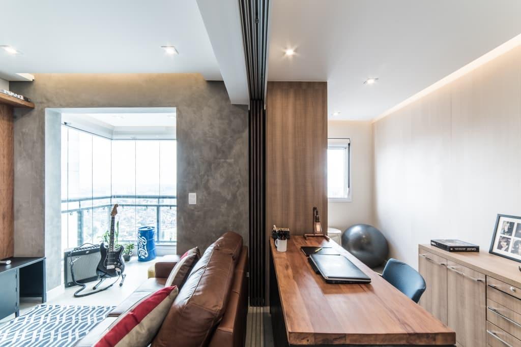Apto Morumbi Pietro Terlizzi 9 - Apartamento pequeno traz estilo rústico sem abrir mão do conforto