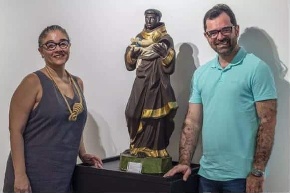 DIÓ DINIZ E PADRE RINALDO FOTO FELIPE BEZERRA REVISTA SIM - Dia da Consciência Negra: Santos Negros em cartaz no Maspe